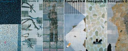 Foot Path 1-6 (work of 6 panels)