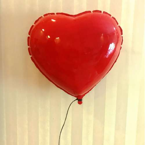 Red Heart Balloon Sculpture